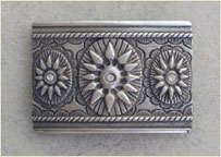 Silver carving buckle