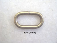 Oval D-Ring (Brass Wire)