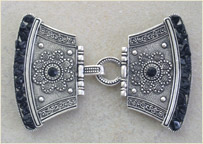 Ethnic silver antique buckle