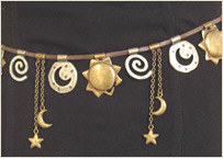 Moon & stars women's belt