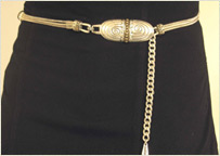 Two tone women's chain belt