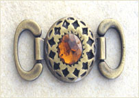 Shoe ornament / amber stones