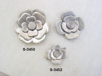 Floral metal trims