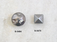 Metal studs for leather